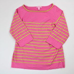 Lilly Pulitzer Boat Neck Striped Sweater Sz Small